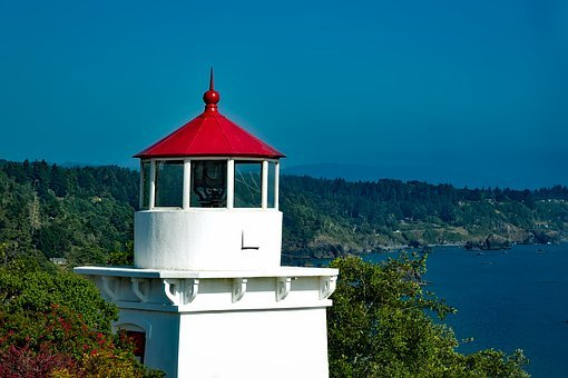 Trinidad Memorial Lighthouse, Light, California, Ocean
