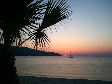 Italy, Elba Island, Sunset, Landscape, Ocean, Sea