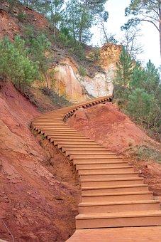 Roussillon, France, Ocher, Rock, Red Ochre, Provence