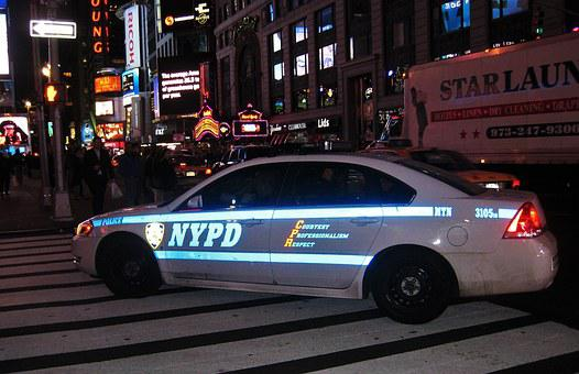 Police Car, Nypd, New York, Road, Police