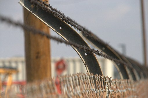 Barbed, Wire Industrial, Wire, Fence, Metal, Protection