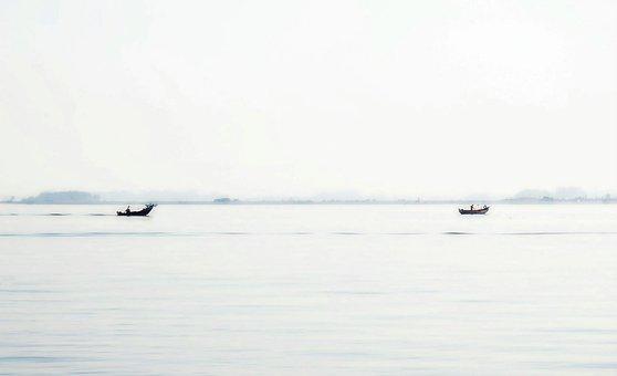 Quiaios, Portugal, Ria, Lake, Boats, Landscape, Nature