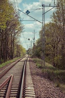 Tracks, Railway, Poland, Railroad Tracks, Transport