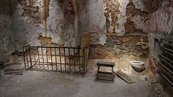 Prison, Ruin, Cell, Bed, Toilet, Jail, Old