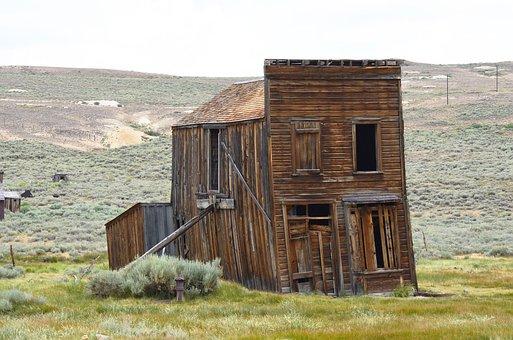 Rustic, Sagging, Building, Bodie, California