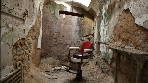Barber Shop, Chair, Barber, Salon, Male, Prison