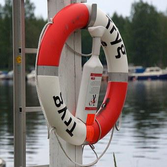 Life Buoy, Security, The Rescue Of The, Sea Emergency