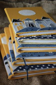 Sewing, Workbook, Dum, Yellow, Blue