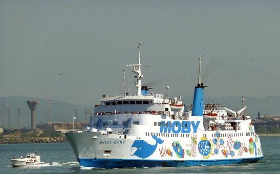 Ship, Ferry, Elba, Italy, Boat, Water, Sea, Port