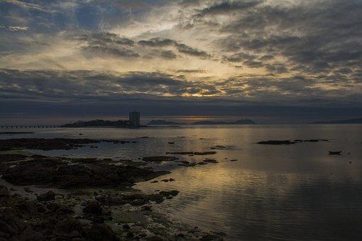Sunset, Landscape, Islands, Sky, Ria, Sea, Beach