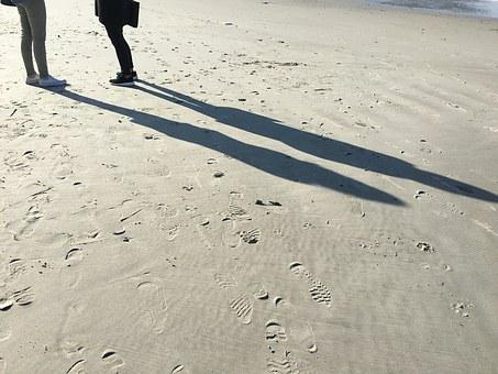 Beach, Walk, Spring, Sun, Sand, Footprints, Galicia