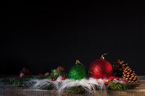 Christmas, Pineapples, Pine, Star, Balls, Color