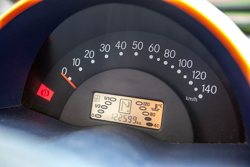 Smart, The Dashboard, Speedometer, Auto, Hand Brake