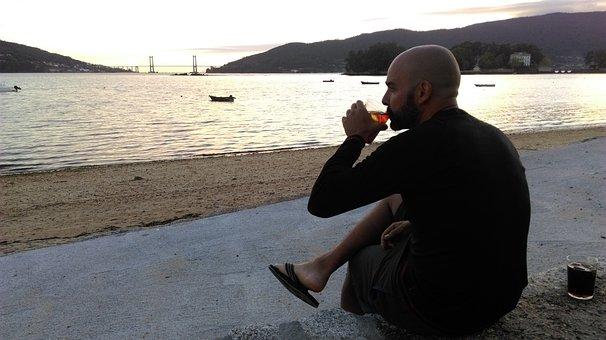 Ria, Vigo, Sea, Beach, Holiday, Mountians, Drink, Male