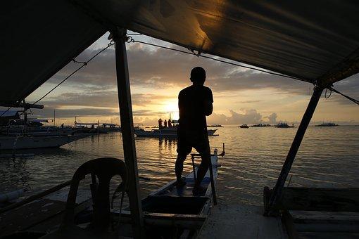 Voyeur, In The Evening, Sea, Sunset, Solar, Landscape