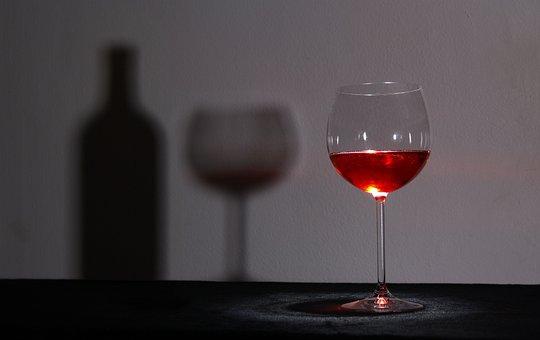 Glass, Wine, Shadow, Wine Glass, Glasses, Transparent