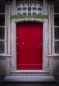 Door, Red Door, Doorway, House, Architecture, Building