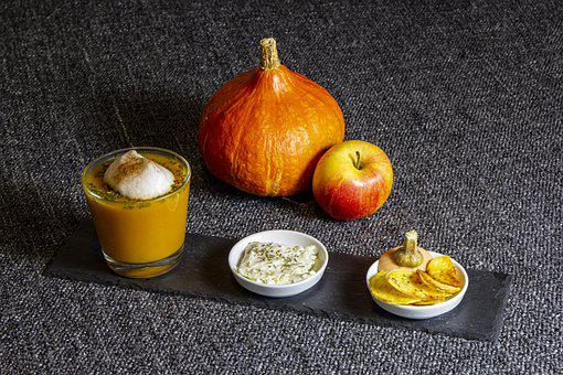 Pumpkin, Apple, Soup, Fruit, Meal, Snack, Food, Autumn
