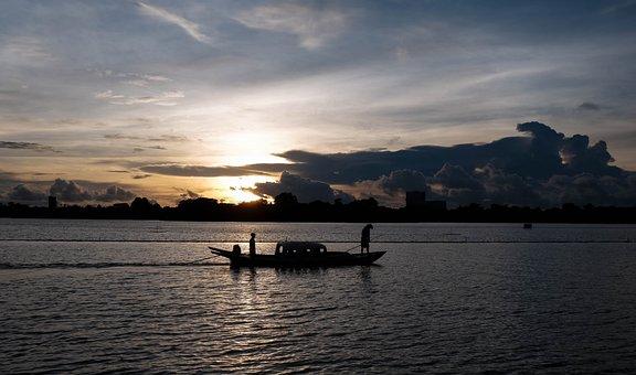 Silhouette, Sea, Fishing, Fishing Boat, Boat, Dusk