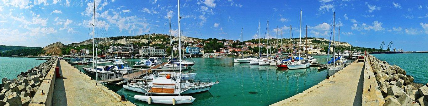 Boat Yard, Port, Yachts, Sea, Balchik, Boats, Bulgaria