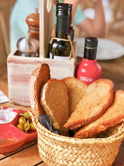 Tapas, Appetizers, Bread, Basket, Restaurant