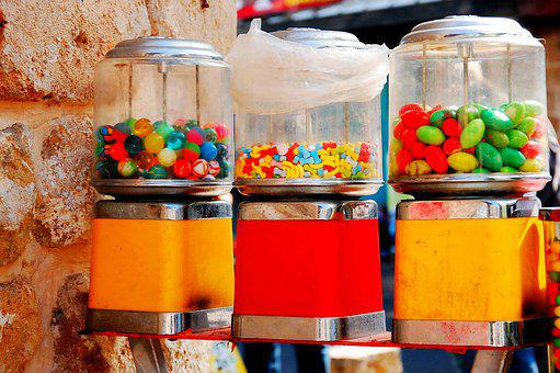 Candy, Sweets, Gumball, Vendor Machine, Kids