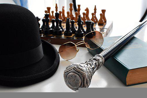 Men Accessories, Chess, Book, Board Game, Hat