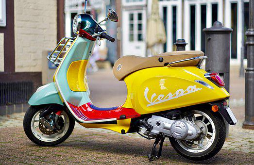 Vespa, Classic, Motor Scooter, Roller