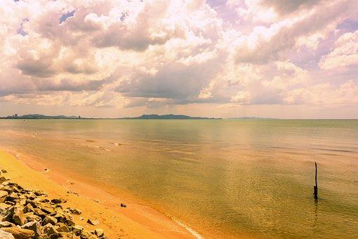 Seascape, Sea, Beach, Ocean, Sand, Stones, Coast