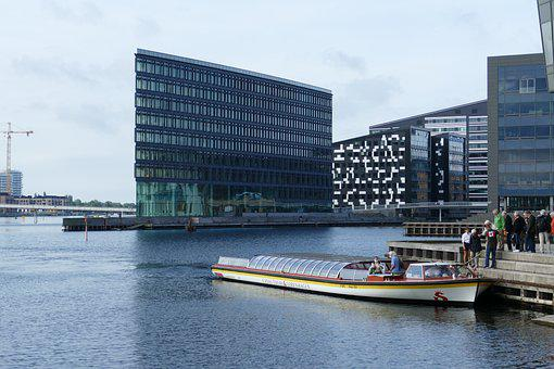 Canal, Dock, Boat, Motorboat, Waterways, City, District
