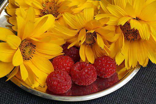 Yellow Flowers, Malin, Food, Red Fruit, Fruit, Healthy