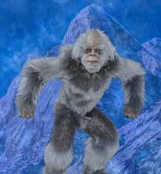 Yeti, Bigfoot, Scary, Sasquatch, Hairy, Humanoid