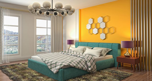 Bedroom, Interior Design, 3d Rendered, 3d Rendering