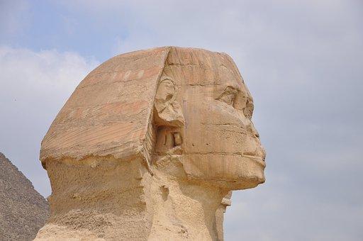 Sphinx, Pharaoh, Pyramid, Sculpture, Monument, Stones