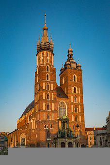 Church, Kraków, Poland, Architecture, Building