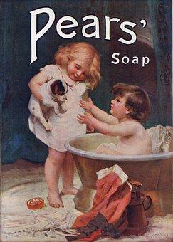 Children, Bath, Dog, Pears, Soap, Skin, Hygiene, Clean