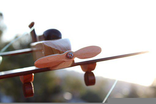 Toy, Wood, Plane, Toy Plane, Wooden Plane, Child's Toy