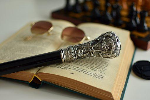 Walking Cane, Walking Stick, Book