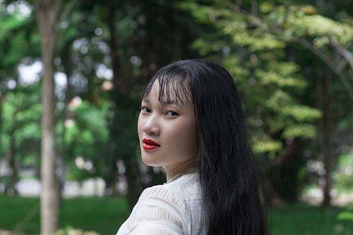 Woman, Model, Park, Trees, Leaves, Flora, Garden, Pose