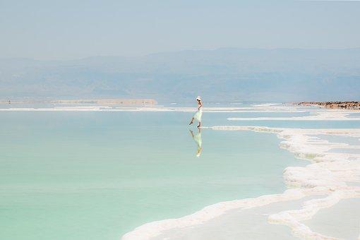 Seascape, Woman, Water Reflection, Sea, Seashore, Coast