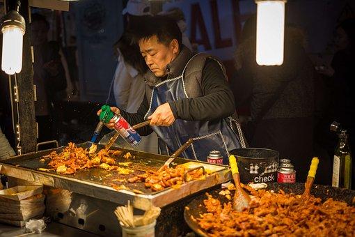 Street Food, Food, Chicken Feet, Korean Food, Stall