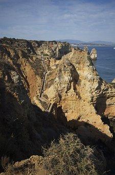 Landscape, Cliff, Sea, Coast, Ocean, Seaside