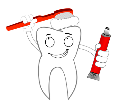 Tooth, Dentist, Toothbrush, Toothpaste, Comic