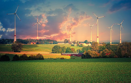 Windmills, Pinwheel, Energy, Current, Wind Power