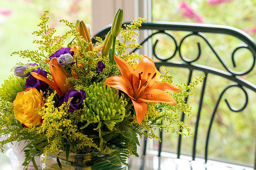 Flowers, Flower Arrangement, Vase, Flower Vase, Decor