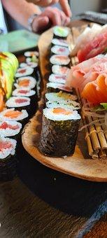 Sushi Platter, Sashimi, Japanese, Sushi, Raw Fish, Food