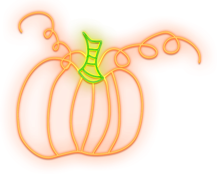Halloween, Neon Pumpkin, Pumpkin, Neon Lights