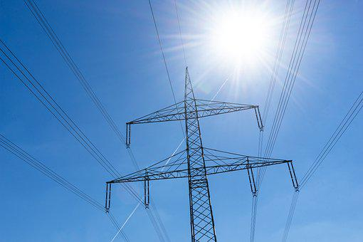 Power Lines, Electricity, High-voltage Line