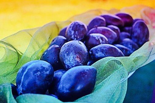 Prune, Plum, Purple Fruit, Dark Plum, Fresh Plums