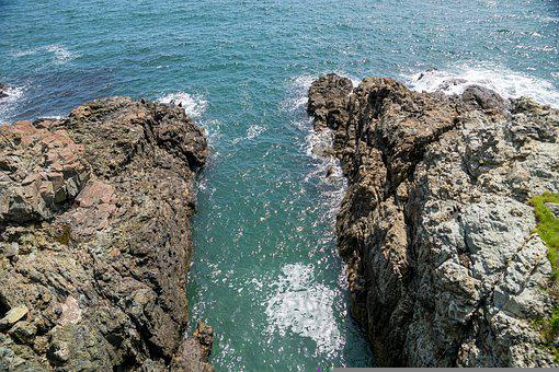Coast, Narrow, Rocks, Sea, Spray, Water, Water Gate